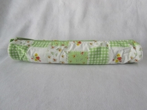 Green Patchwork Floral Soft Knitting Pin Case [Clearance]