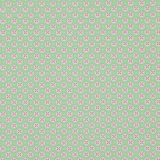 Green Stitch in Pink Circle on Green 1 Metre Fabric