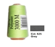 Grey Overlocking Thread 3000m