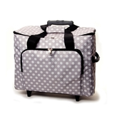 Grey Polka Dot Trolley Bag