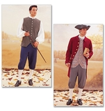 Historical Costume (Coat, Vest, Shirt, Pants and Hat) Size 32,34,36