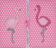 HobbyGift HGTLR_324 | Classic Collection | Twin Lid Rectangular Box Applique | Flamingos Bird Print Sewing Box 3