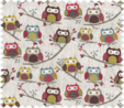HobbyGift MRLD_195 | Sewing Box: Square with Drawer: Hoot Bird Print Sewing Box 3