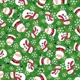 Holly Jollies Toss Green Fabric