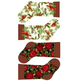Home For The Holidays Multi Stocking Fabric Panel