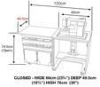 Horn Cub Plus 1010 Sewing Cabinet 7