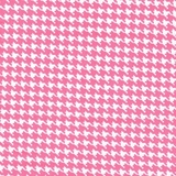 Houndstooth Pink Fabric Cut, Single 160 x 110cm