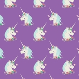 I Believe In Unicorns On Purple Fabric