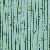 Imperial Panda Bamboo Stripe Teal Fabric
