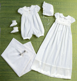 Infants' Romper, Dress, Sash, Hat, Booties and Blanket B6045 Sizes NBN, SML, MED, LRG, XLG