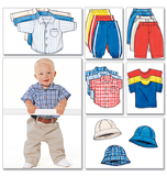 Infants Shirt, T Shirt, Pants & Hat B5510 Size LRG, XLG