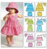 Infants Top, Dress, Panties, Shorts, Pants and Hat B5017 One Size