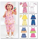 Infants Top, Shorts, Pants & Hat Size NB,S,M