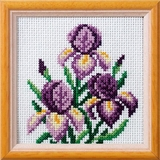 Iris Cross Stitch Kit