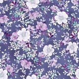 Jacqueline Floral on Grape Fabric
