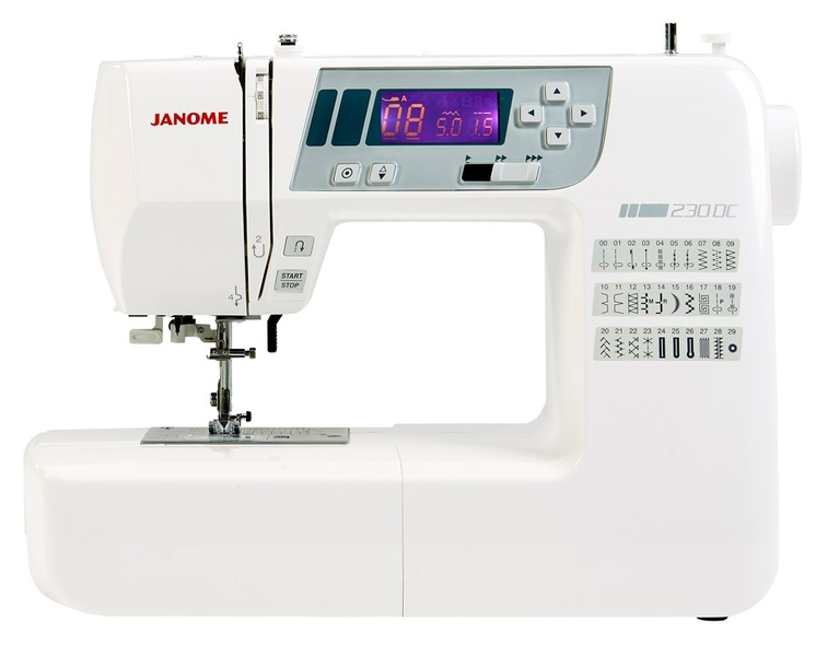 Janome 230DC Computerised Sewing Machine. Plus Extra Wide Table Included. Was £349, Save £50. Sewing Machine