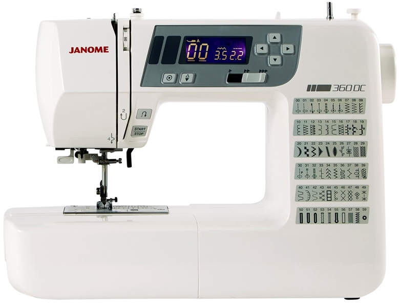 Janome 360DC Computerised Sewing Machine. Plus Extra Wide Table Included Sewing Machine