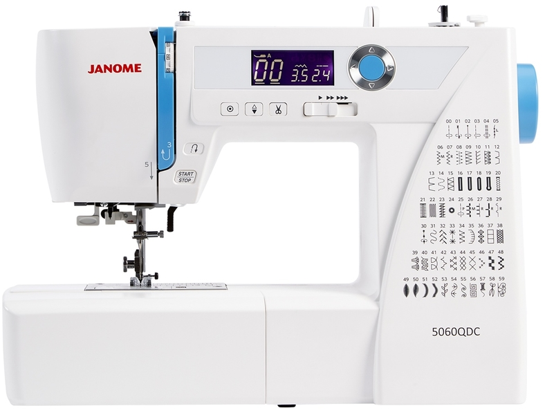 Janome 5060 QDC Computerised Sewing Machine Plus Wide Table Included  Sewing Machine