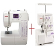 Janome 8050XL Plus Janome 8002DX Amazing Combo Offer Sewing Machine