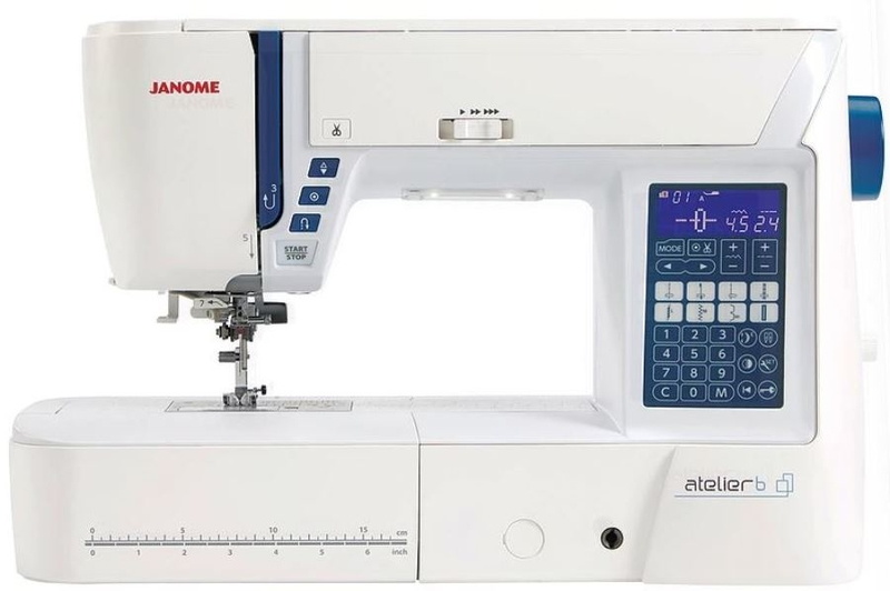 Janome Atelier 6 Computerised Sewing Machine Classroom Model. FREE Thread Pack Included. Sewing Machine