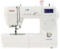 Janome M100 QDC Computerised Sewing Machine. Extra Wide Table Included & Bonus Pack worth £59. Was £579, Save £60.