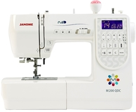 Janome M200 QDC Computerised Sewing Machine. Wide Table & Bonus Pack Included
