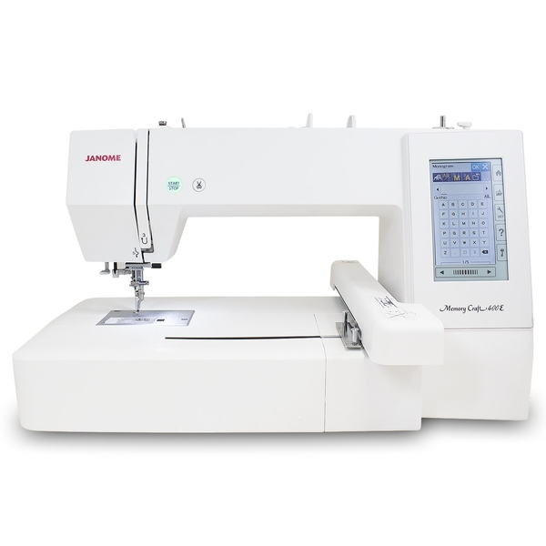 Janome Memory Craft 400E Computerised Embroidery Machine Embroidery Machine