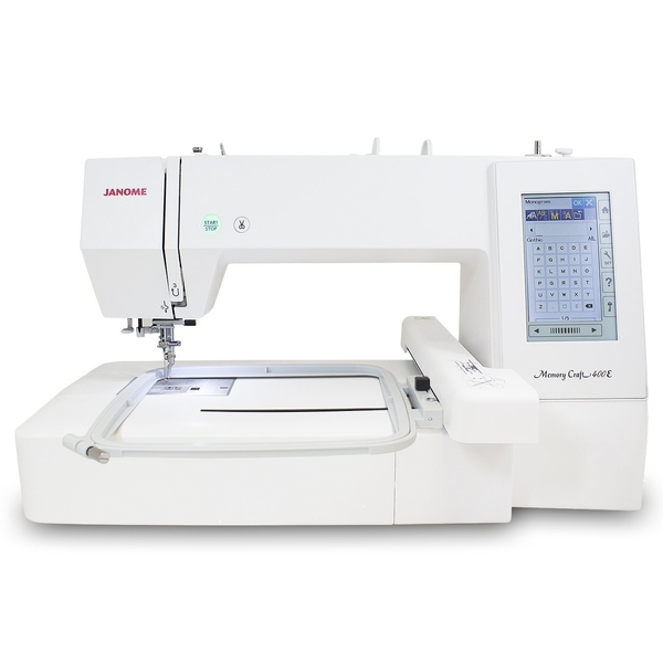 janome memory craft 400e embroidery machine reviews