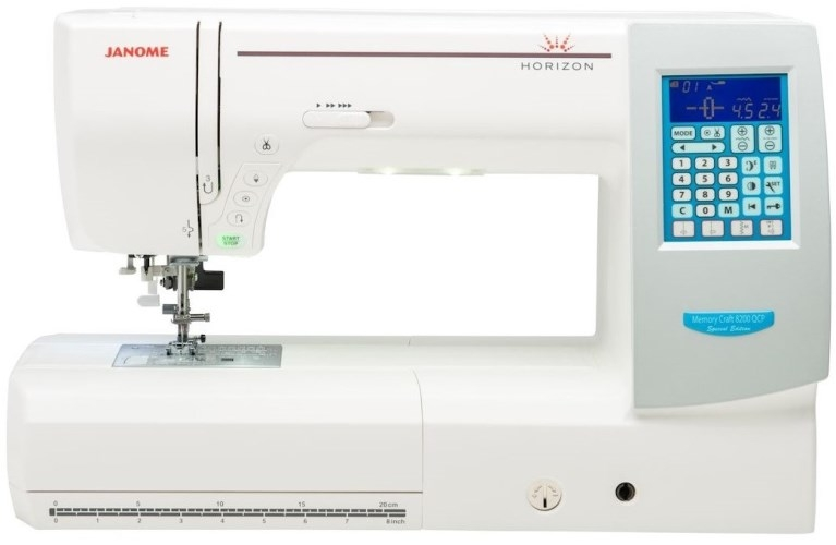 Janome Memory Craft 8200QCP Special Edition Sewing Machine. Was £1699, Save £300. Sewing Machine