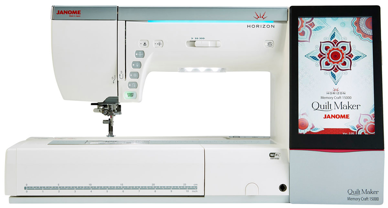 Janome Memory Craft Horizon 15000 Quilt Maker + Free Digitizer MBX Software Worth £899. Save £2000. Limited Offer Sewing Machine