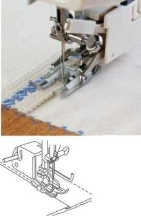 Janome Open-Toe Even Feed Foot with Quilting Guide (Cat B)