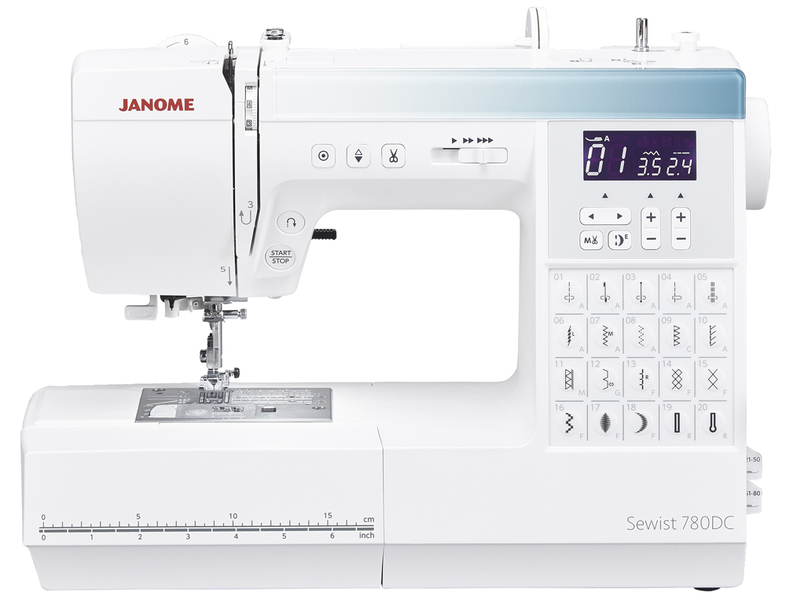 Janome 780DC Computerised Sewing Machine. Normally £559, Save £50. Sewing Machine