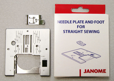 Janome Straight Stitch Foot and Needle Plate Set for MC11000