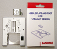 Janome Straight Stitch Foot and Needle Plate Set (Cat C)