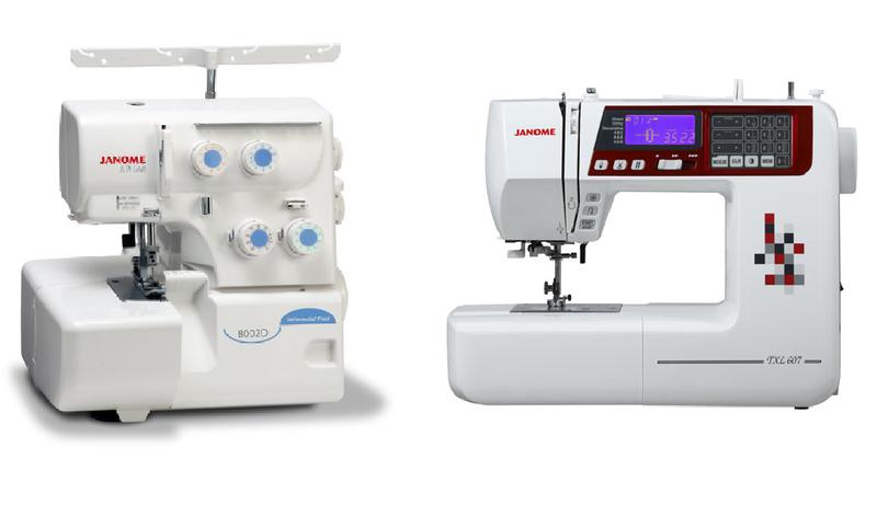 Janome TXL607 Machine & Janome 8002D Overlocker Sewing ...