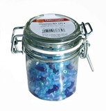 Jar of Blue Glass Beads