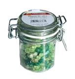 Jar of Green Glass Beads