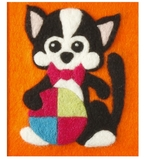 Kitty Felt by Number Kit