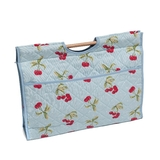 Knit Craft Bag Cherry Spot on Light Blue