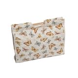 Knit Craft Bag Papillon Butterfly Scroll Print