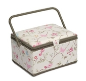 Birds and Flowers Large Sewing Box