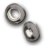 Large Brass Silver Spacers 5pk