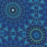 Large Medallion Blue Fabric