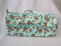 Light Blue Floral Knit Bag