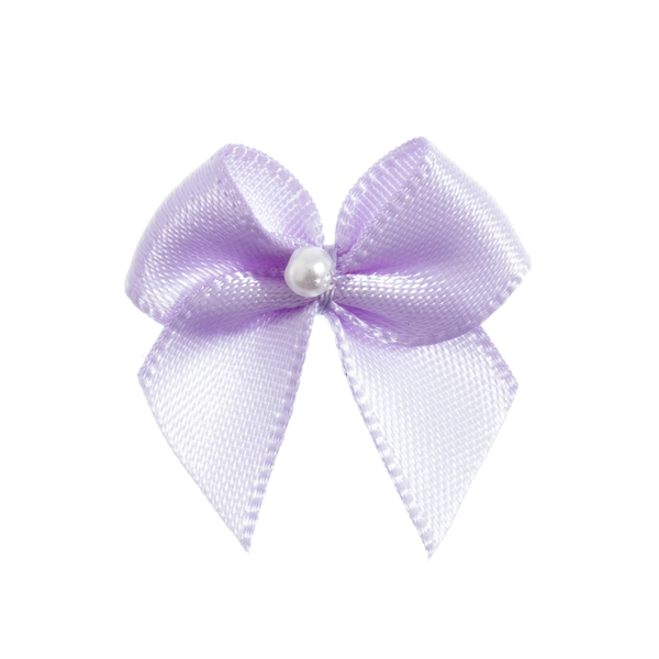 Light Orchid Pearl Crossover Bow 6pk