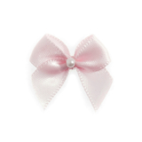 Light Pink Pearl Crossover Bow 6pk