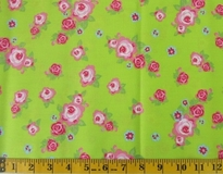 Lime Flowers Fabric Cut 6245, Single 145 x 110cm