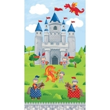 Little Knights Quest Fabric Panel