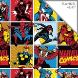 Marvel Comics Collection #2 Comic Blocks Flannel Fabric