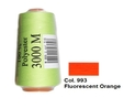 Fluorescent Orange Overlocking Thread 3000m